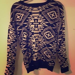 H&M tribal sweater